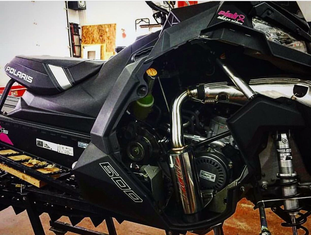 MBRP Polished Stainless SILENCER 13-18 POLARIS 600 800 PRO RIDE RMK ASSAULT RUSH