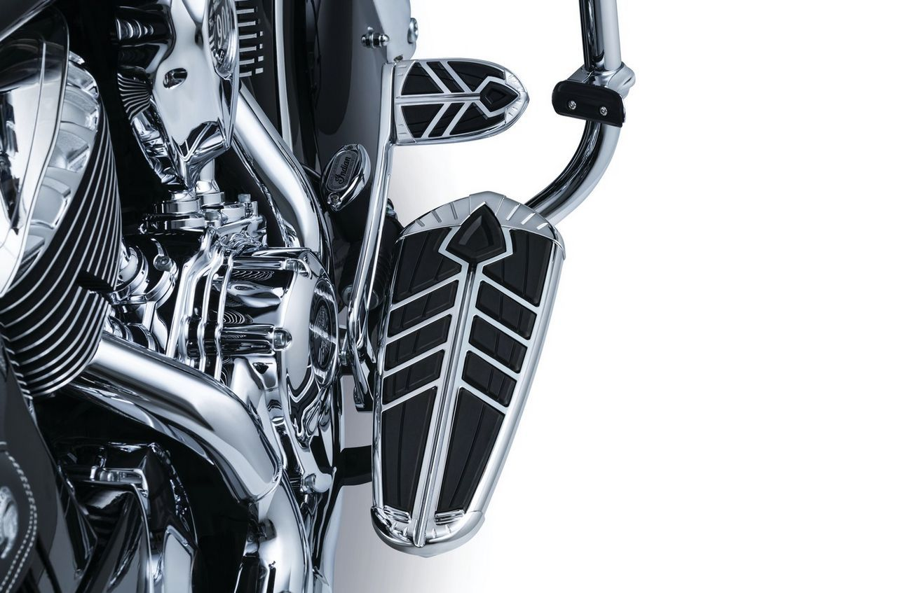 RPM KURYAKYN Black for Chrome Spear FLOORBOARD Inserts 2014-2018 Indian Motorcycle 5650