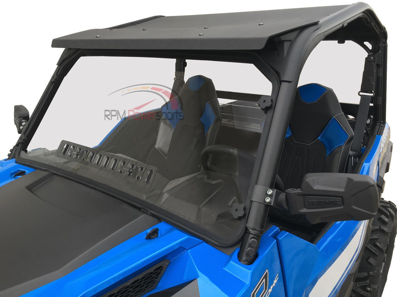 SPIKE Vented Full Hard Coated Windshield Polaris General 1000 and Crew 2016-18+