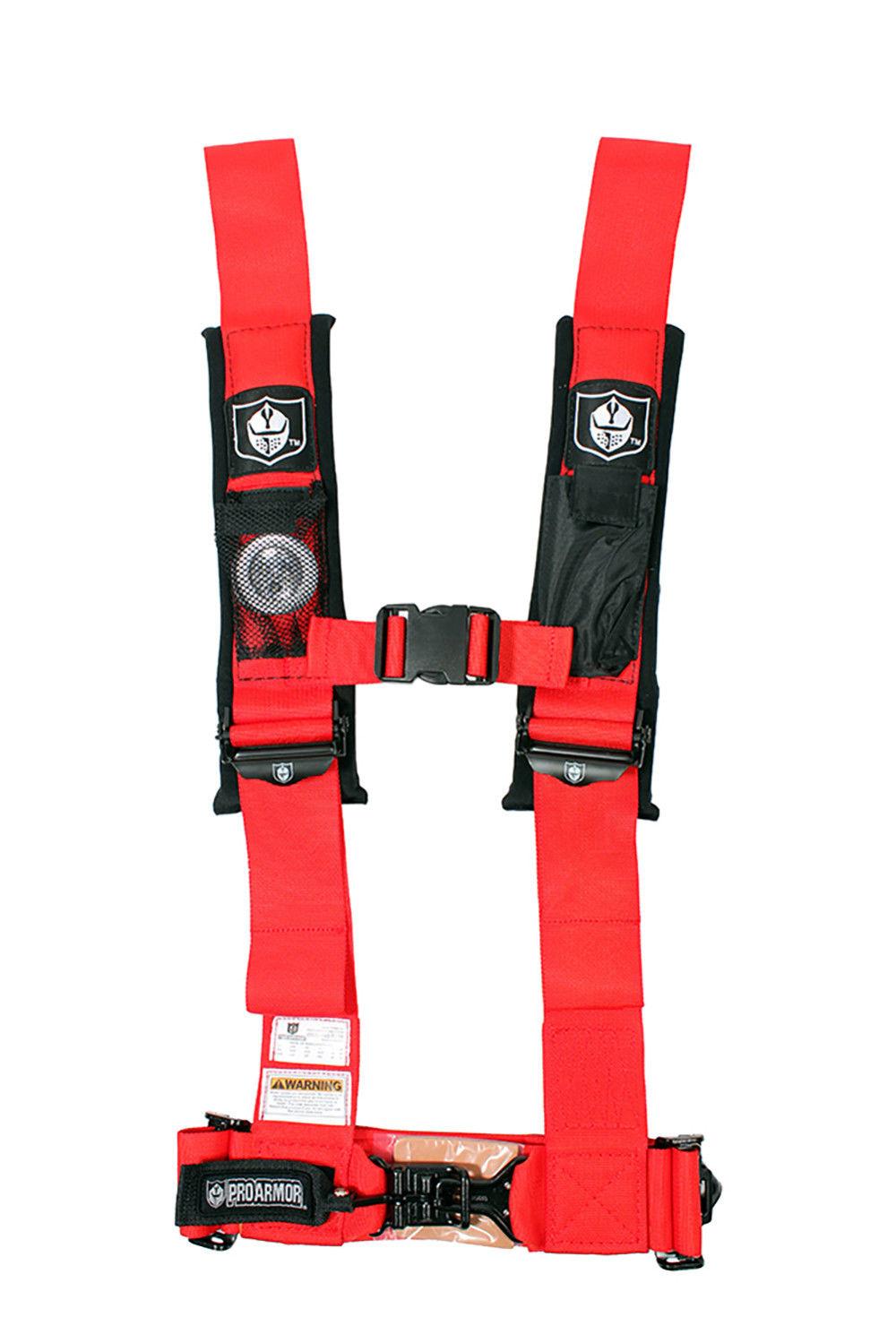 "800 Pro Armor 4 Point Harness 2/"" Pads Seat Belt PAIR ORANGE Kawasaki Teryx 750"