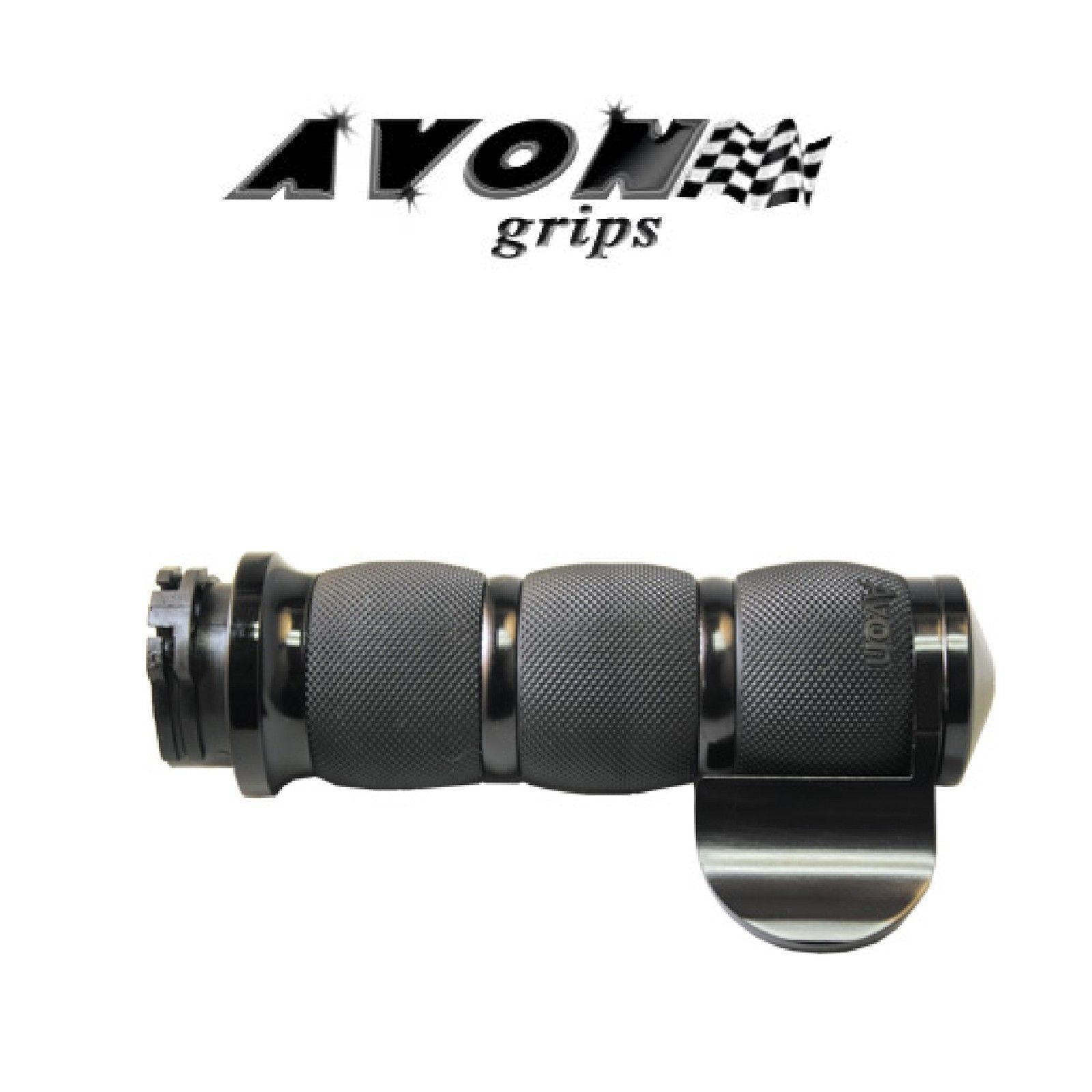 CHROME AVON THROTTLE ASSIST FOR AVON AIR CUSHION GRIPS FOR MOTORCYCLE HARLEY